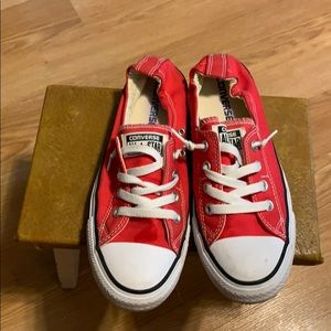 Converse All Star slip-on red sneakers